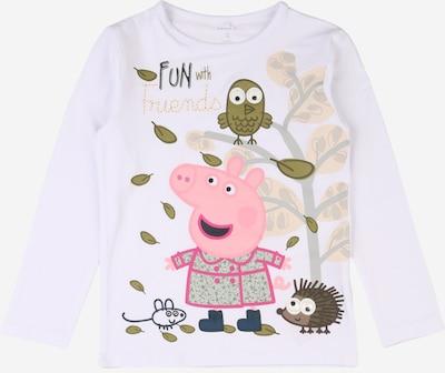 NAME IT T-Shirt 'Peppapig Lina' en olive / mélange de couleurs / rose / rose clair / blanc, Vue avec produit