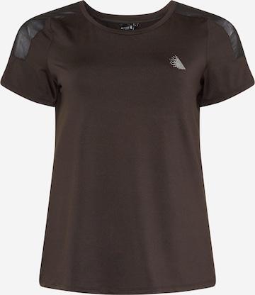 Active by Zizzi Performance Shirt 'AHIROTO' in Black