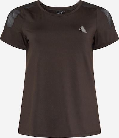 Active by Zizzi Функционална тениска 'AHIROTO' в черно / бяло, Преглед на продукта