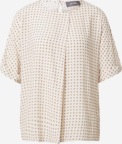 MOS MOSH Bluse 'Posie Tilia' in creme / dunkelbeige / hellbraun, Produktansicht