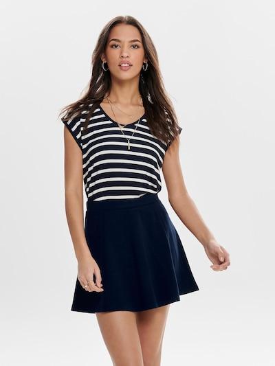 ONLY T-Shirt 'Wilma' in nachtblau / weiß: Frontalansicht