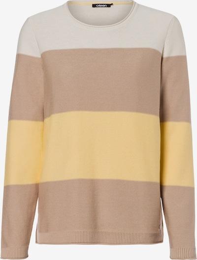 Olsen Pullover in beige / gelb / weiß, Produktansicht