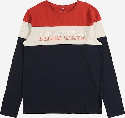 NAME IT Shirt 'NESMIR' en navy / grau / orangerot / weiß, Vue avec produit
