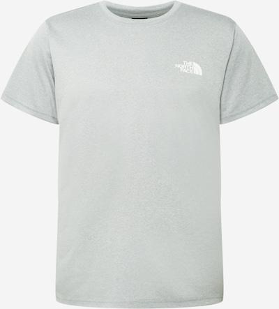 THE NORTH FACE Sportshirt 'REAXION' in grau / schwarz / weiß, Produktansicht