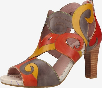Laura Vita Sandales en jaune / gris / rouge / rouge orangé, Vue avec produit