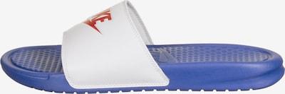 Nike Sportswear Badeschuhe ' Benassi ' in rot / weiß, Produktansicht