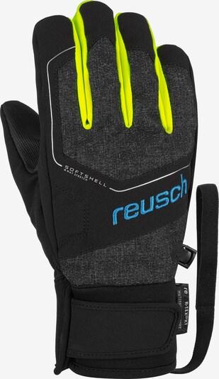 REUSCH Fingerhandschuh 'Torby R-TEX® XT Junior' in gelb / schwarzmeliert, Produktansicht