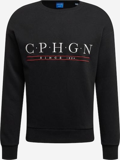 JACK & JONES Sweatshirt in de kleur Pink / Zwart / Wit, Productweergave