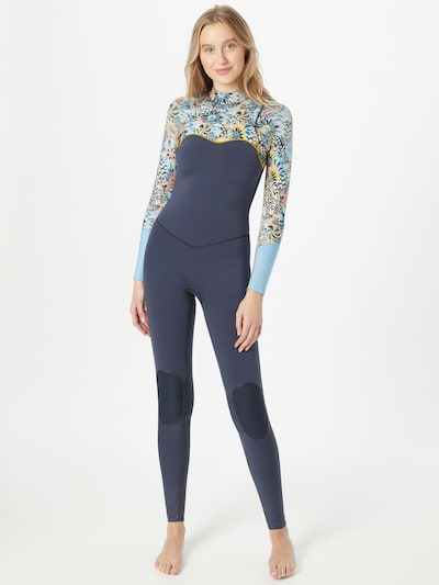 ROXY Sports Suit '4/3 MARINE BLOOM FZ GBS' in Navy / Mixed colors: Frontal view