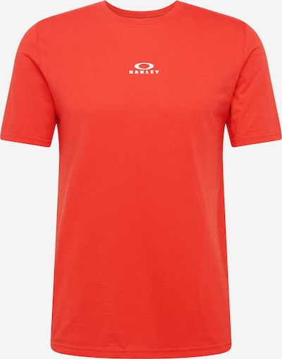 OAKLEY Funktionsshirt 'BARK' in orangerot / weiß, Produktansicht