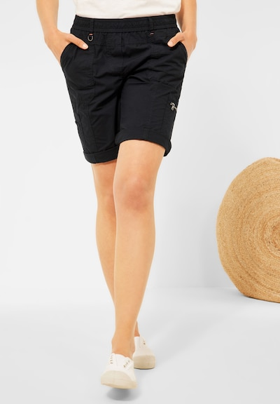 CECIL Loose Fit Shorts in Unifarbe in navy, Modelansicht