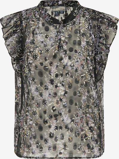 DreiMaster Vintage Bluse in mischfarben / schwarz, Produktansicht