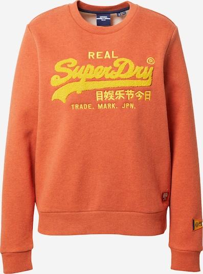 Superdry Sweatshirt in gelb / orange, Produktansicht