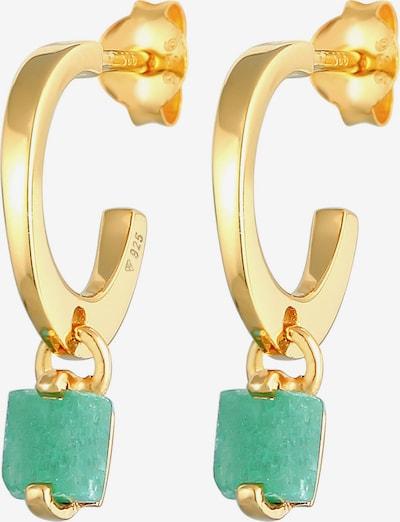 ELLI PREMIUM Boucles d'oreilles en or / vert, Vue avec produit