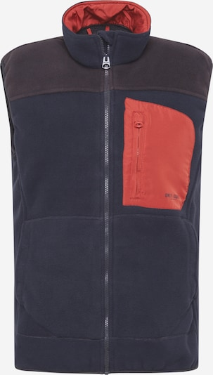 Only & Sons Bodywarmer 'HIKE' in de kleur Navy / Oranjerood, Productweergave