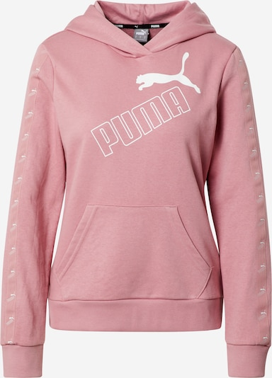 PUMA Sweat de sport 'Amplified' en rose / blanc, Vue avec produit