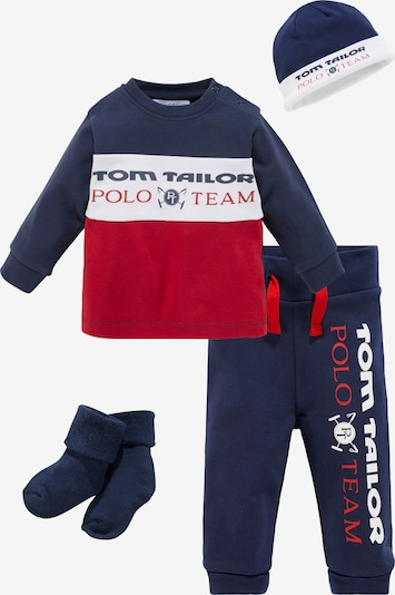 Tom Tailor Polo Team Set in marine blue / Red / White, Item view