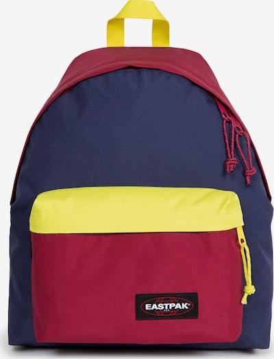EASTPAK Nahrbtnik 'PADDED' | mornarska / rumena / češnjevo rdeča barva, Prikaz izdelka