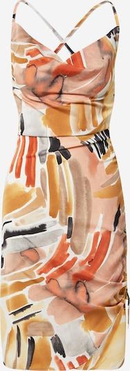 In The Style Zomerjurk in de kleur Beige / Goud / Sinaasappel / Wit, Productweergave