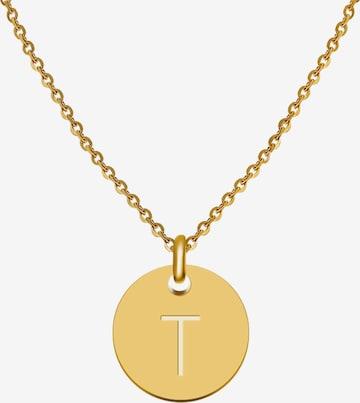GOOD.designs Buchstabenkette 'T' in Gold