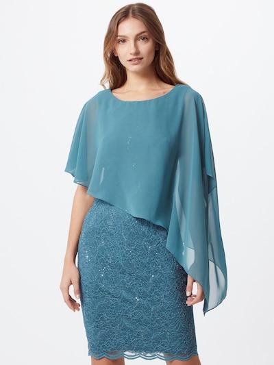 SWING Robe de cocktail en jade, Vue avec modèle