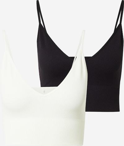 ONLY Top 'Vicky' in schwarz / weiß, Produktansicht