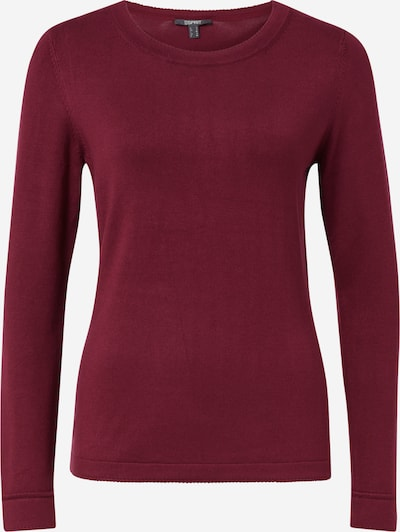 Esprit Collection Pullover 'ECO Vero' in bordeaux: Frontalansicht