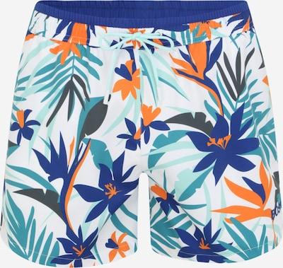 BOSS Casual Plavecké šortky 'Solarfish' - královská modrá / chladná modrá / oranžová / bílá, Produkt