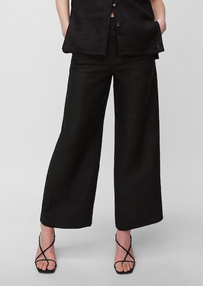 Marc O'Polo Pure Pantalon ' aus reinem Leinen ' en noir, Vue avec modèle