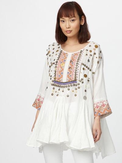 Mes Demoiselles Tuniek 'KOOKS' in de kleur Gemengde kleuren / Wit, Modelweergave