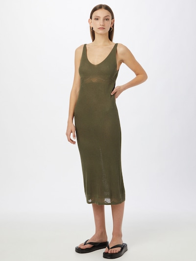 Y.A.S Knit dress 'FAITH' in Olive, View model