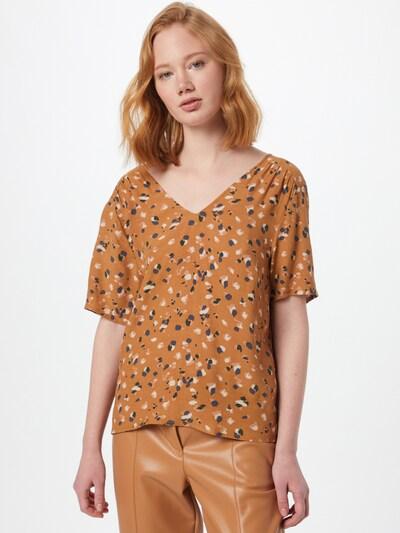OBJECT Bluse 'OBJNELLE' in hellbraun / mischfarben, Modelansicht
