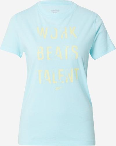 REEBOK T-Shirt in azur / gelb, Produktansicht