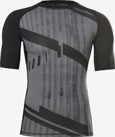 Sportiniai marškinėliai iš Reebok Sport, spalva – pilka / juoda, Prekių apžvalga