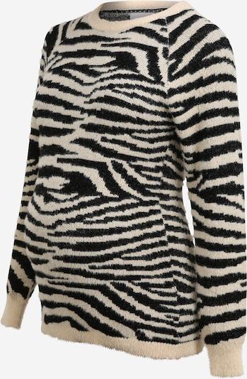 MAMALICIOUS Pullover 'Celine' in beige / schwarz, Produktansicht