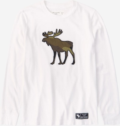 Abercrombie & Fitch T-Shirt en marron / marron châtaigne / gris / blanc, Vue avec produit