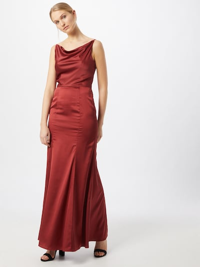 Chi Chi London Kleid 'Tamara' in rostrot, Modelansicht