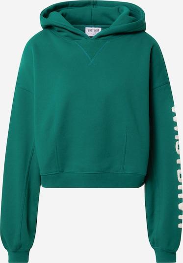 Worst Behavior Sweatshirt 'LANI' in grün / weiß, Produktansicht
