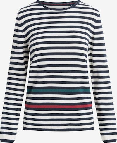 REDGREEN Pullover 'Saga' in marine / dunkelgrün / blutrot / weiß, Produktansicht