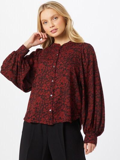 LEVI'S Bluse 'HADLEY' in dunkelrot / schwarz, Modelansicht
