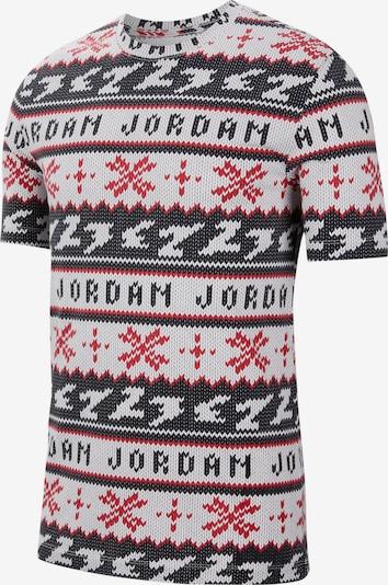 Jordan T-Shirt in rot / schwarz / weiß, Produktansicht