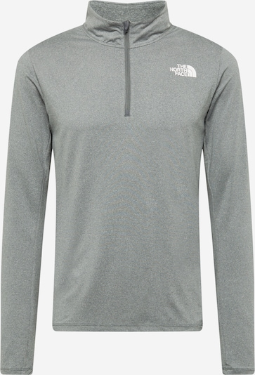THE NORTH FACE Camiseta funcional en gris / blanco, Vista del producto