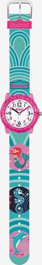 SCOUT Uhr in türkis / mischfarben, Produktansicht