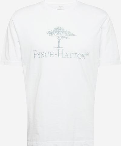 FYNCH-HATTON T-Shirt in grünmeliert / weiß: Frontalansicht