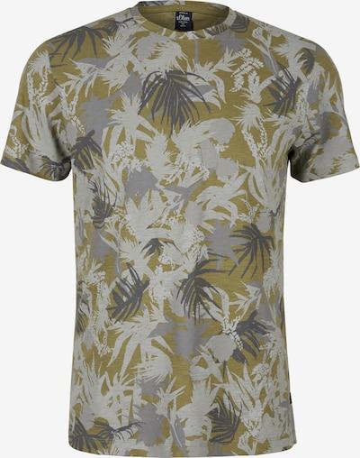s.Oliver T-Shirt in grau / anthrazit / hellgrau / oliv, Produktansicht