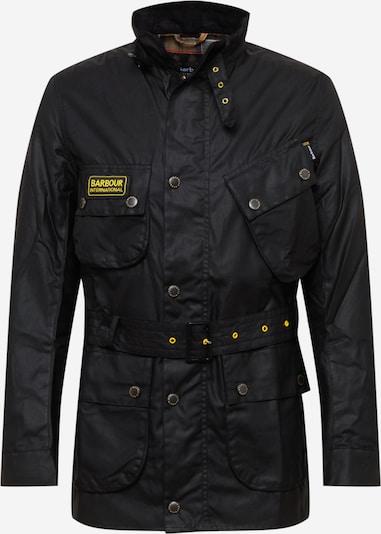 Barbour International Jacke in gelb / schwarz: Frontalansicht