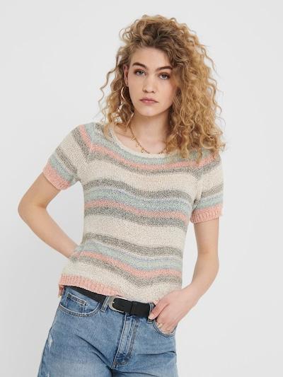 ONLY Pullover in taupe / pastellgrün / mischfarben / puder / altrosa, Modelansicht