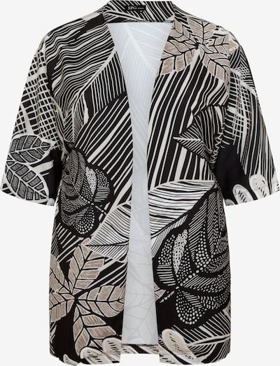 SPGWOMAN Kimono 'KIMONO LONDON' in grau / schwarz, Produktansicht