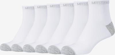 MUSTANG Kurzsocken 'Olivia' im 6er-Pack in weiß, Produktansicht