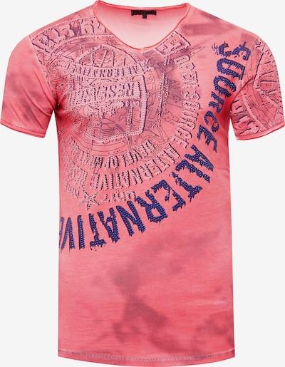 Rusty Neal T-Shirt in dunkelblau / hellrot, Produktansicht